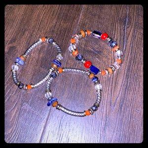 Ruby Rd. Silvertone Stretch Bracelet Set